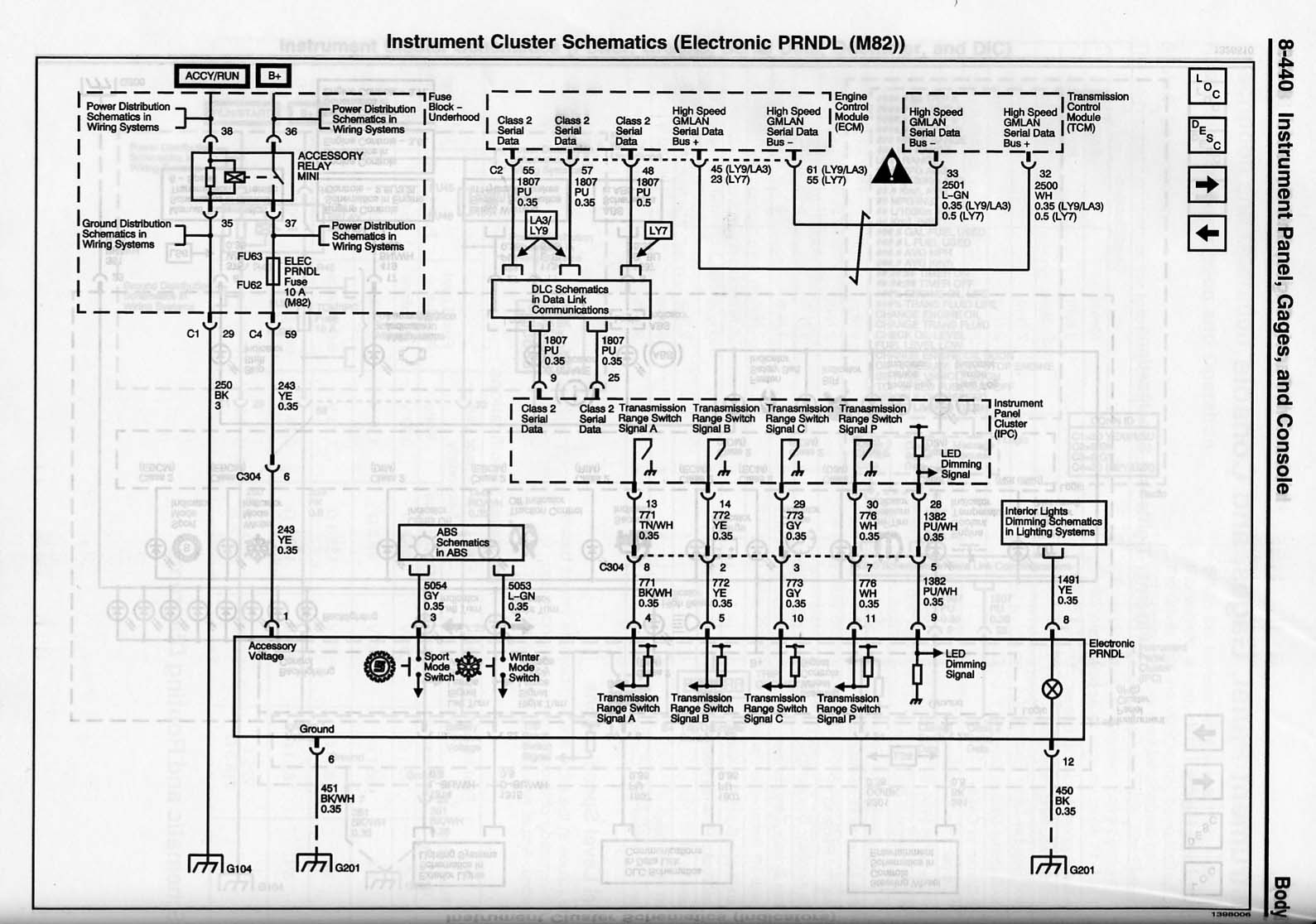 Cts V Faq Service Manual Pages Cadillac Obd Ii Wiring Diagram Cluster Schematic Oil Temp